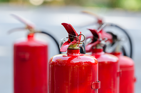 Fire protection services include Fire Extinguishers