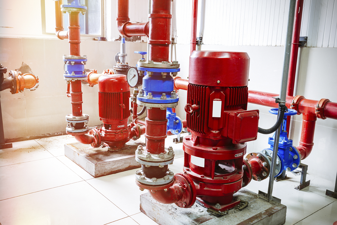 Fire protection services include Fire Pumps